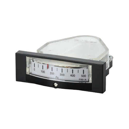 山本電機製作所:マノスターゲージ エッジワイズ微差圧計 型式:FR51AHV200DV (200PA)