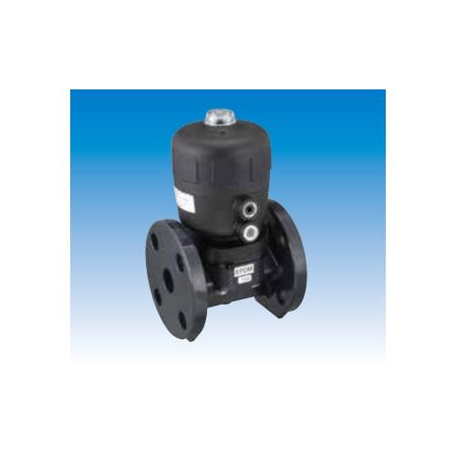 積水化学工業:B型エア式ダイアフラムバルブ(自動バルブ) フランジ式 PVC 逆作動 型式:B型エア フランジ(逆)EPDM-40