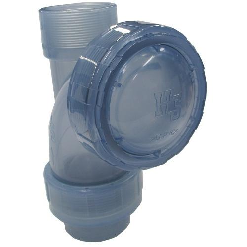 橋本産業:樹脂製排水ポンプ用ボールチャッキ 型式:DYCVS2-50 ねじ込み式
