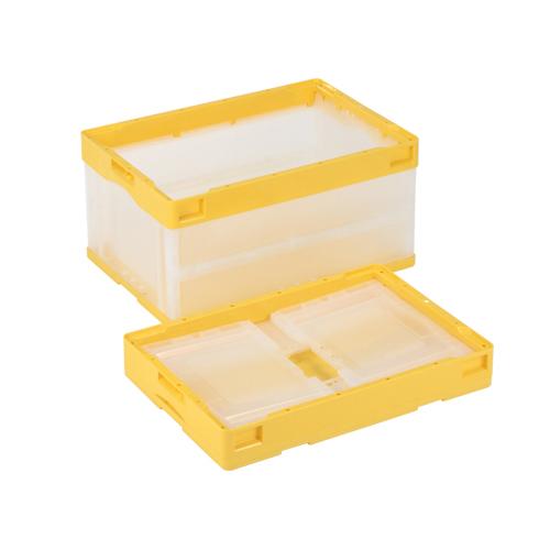 岐阜プラスチック工業:蓋無し折りたたみコンテナー 型式:CB-S41NR-CY(1セット:5個入)