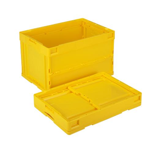 岐阜プラスチック工業:蓋無し折りたたみコンテナー 型式:CB-S51NR-Y(1セット:5個入)