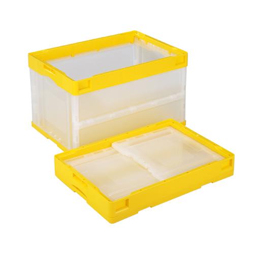 岐阜プラスチック工業:蓋無し折りたたみコンテナー 型式:CB-S51NR-CY(1セット:5個入)