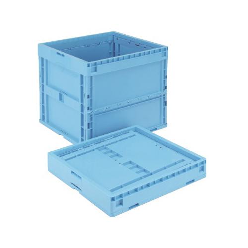 岐阜プラスチック工業:折りたたみコンテナー 型式:CB-S187NR-B(1セット:2個入)