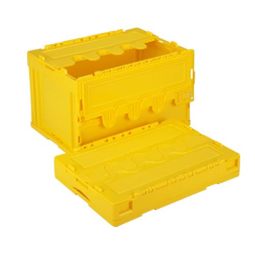 岐阜プラスチック工業:折りたたみコンテナ蓋付 型式:CF-S51NR-Y(1セット:5個入)