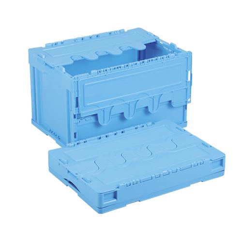 岐阜プラスチック工業:折りたたみコンテナ蓋付 型式:CF-S51NR-B(1セット:5個入)