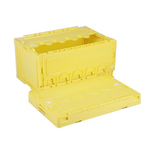 岐阜プラスチック工業:折りたたみコンテナ蓋付 型式:CF-S76NR-Y(1セット:5個入)
