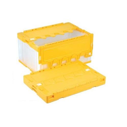 岐阜プラスチック工業:折りたたみコンテナ蓋付 型式:CF-S76NR-CY(1セット:5個入)