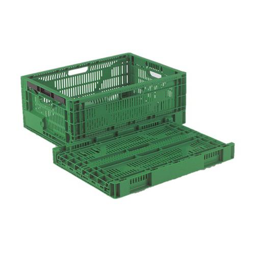 岐阜プラスチック工業:野菜・果物折りたたみメッシュ面コンテナ 型式:RS-MM27S(1セット:5個入)