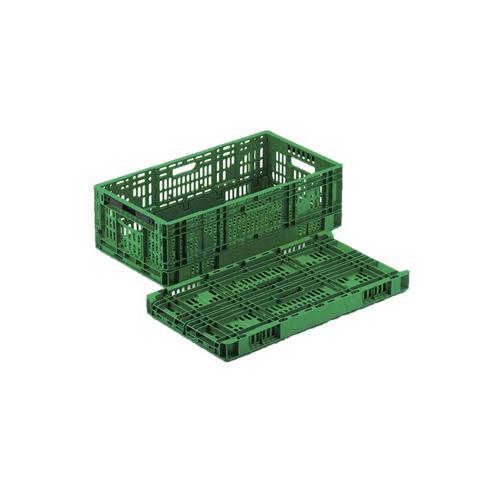 岐阜プラスチック工業:野菜・果物折りたたみメッシュ面コンテナ 型式:RS-MM37S(1セット:5個入)