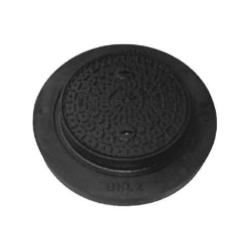 伊藤鉄工(IGS):小口径マス用 鋳鉄製防護ふた(敷地用)〈台座付〉 型式:BHLZ-2-300-おすい