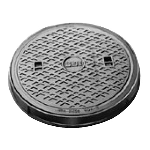 伊藤鉄工(IGS):防臭型丸枠パッキン入りマンホールふた 型式:MCBRG-300(鎖付き)-雨水