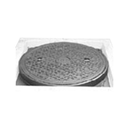 伊藤鉄工(IGS):CD桝縁塊用 防臭中耐型パッキン入りマンホールふた(縁塊別途) 型式:MCACD-300(ラス網付き鎖付き)-雨水