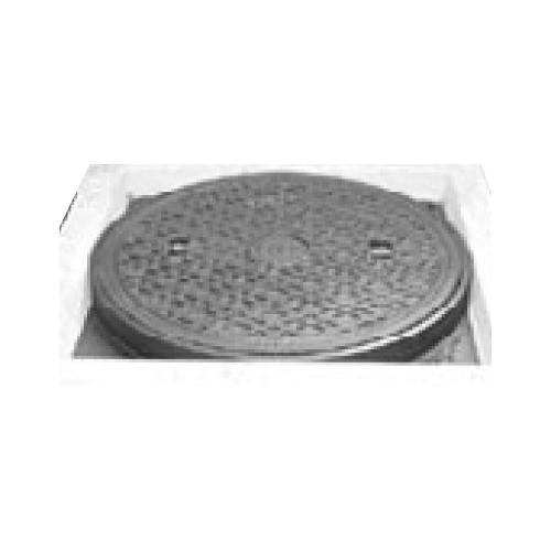 伊藤鉄工(IGS):CD桝縁塊用 防臭中耐型パッキン入りマンホールふた(縁塊別途) 型式:MCAGCD-300(ラス網なし鎖付き)-雨水