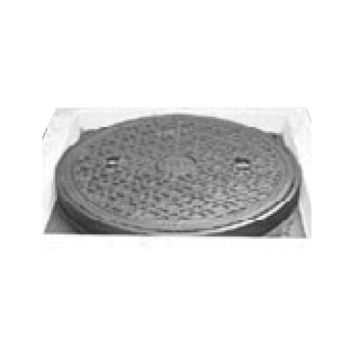 伊藤鉄工(IGS):CD桝縁塊用 防臭重耐型マンホールふた(縁塊別途) 型式:MCDCD-300(ラス網なし鎖付き)-汚水