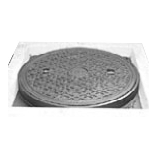 伊藤鉄工(IGS):CD桝縁塊用 防臭重耐型パッキン入りマンホールふた(縁塊別途) 型式:MCDGCD-350(ラス網付き鎖付き)-汚水
