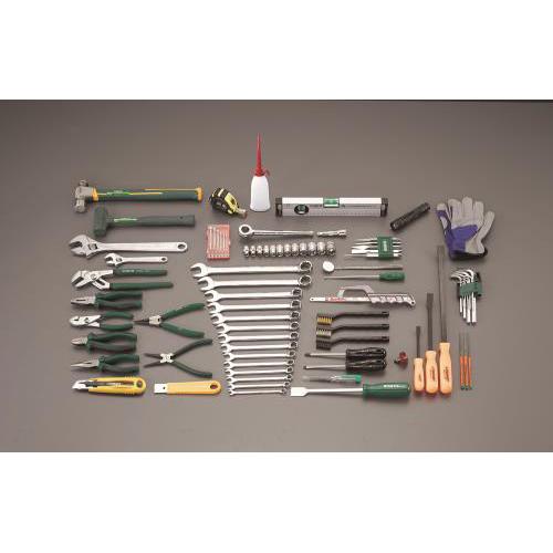 エスコ:[87個組] 工具セット 型式:EA58