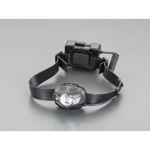 エスコ:[充電式] ヘッドライト/LED(広角照明) 型式:EA758RX-15