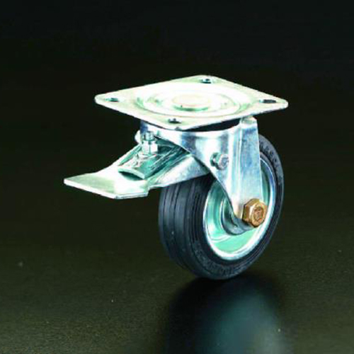 エスコ:キャスター(自在金具・前輪ブレーキ付) 型式:EA986GC-200