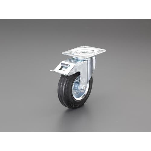 エスコ:キャスター(自在金具・ブレーキ付/耐熱) 型式:EA986GL-22