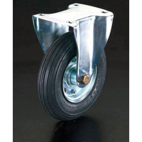 エスコ:キャスター(固定金具・空気入車輪) 型式:EA986HG-200