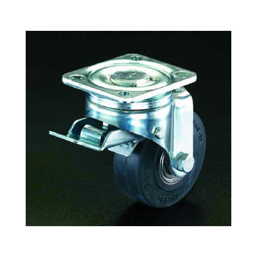 完成品 エスコ:キャスター(自在金具・前輪ブレーキ付) 型式:EA986HJ-13:配管部品 店-DIY・工具