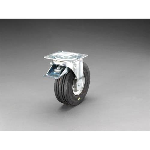 エスコ:250mm キャスター(自在・ワイドタイヤ・前輪ブレーキ) 型式:EA986JH-1