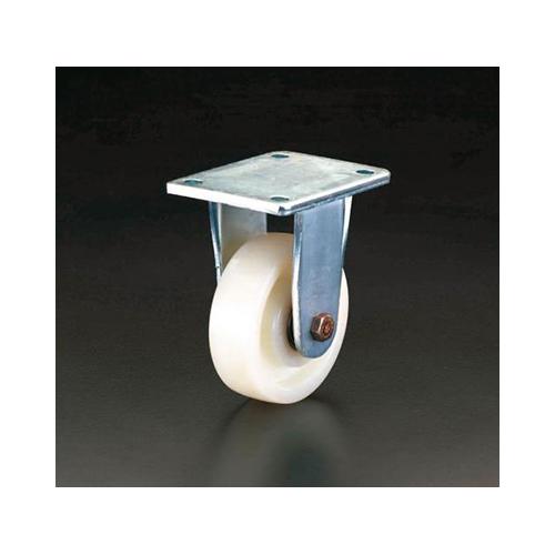 エスコ:キャスター(固定金具・ナイロン車輪) 型式:EA986KV-200
