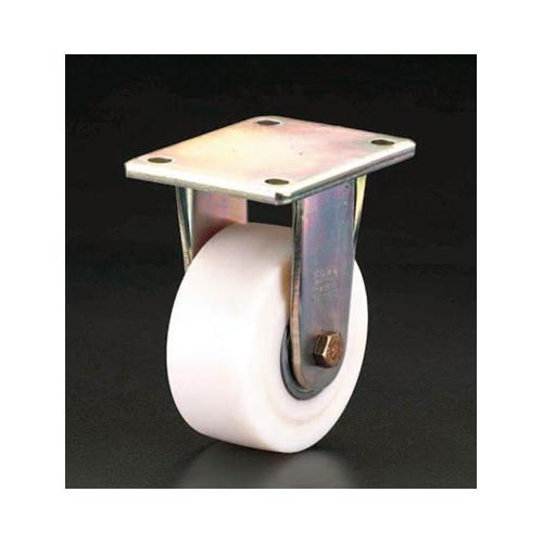 エスコ:キャスター(固定金具・ナイロン車輪) 型式:EA986KX-100