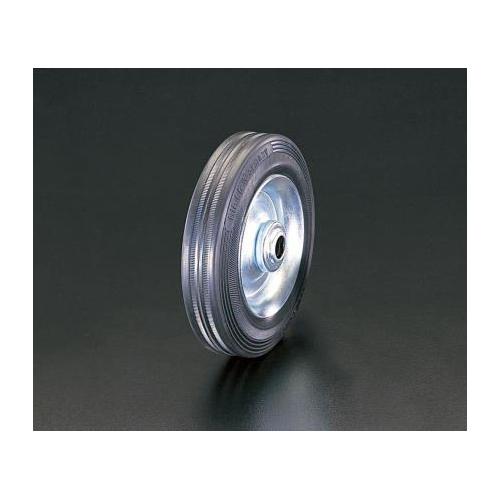 エスコ:車輪(ラバータイヤ・スチールリム・ローラーベアリング 型式:EA986MG-400