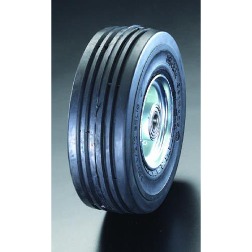 エスコ:車輪(エラスティックタイヤ・スチールリム・ベアリング 型式:EA986MM-400