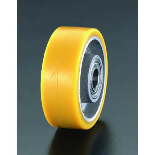 エスコ:車輪(ポリウレタンタイヤ・アルミリム・ベアリング) 型式:EA986MP-125