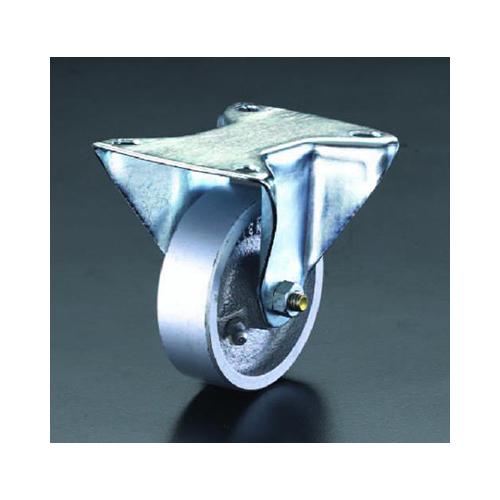 エスコ:キャスター(固定金具・スティール車輪) 型式:EA986N-150
