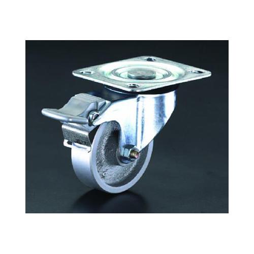 エスコ:キャスター(自在・後ブレーキ・スティール車輪) 型式:EA986NA-2