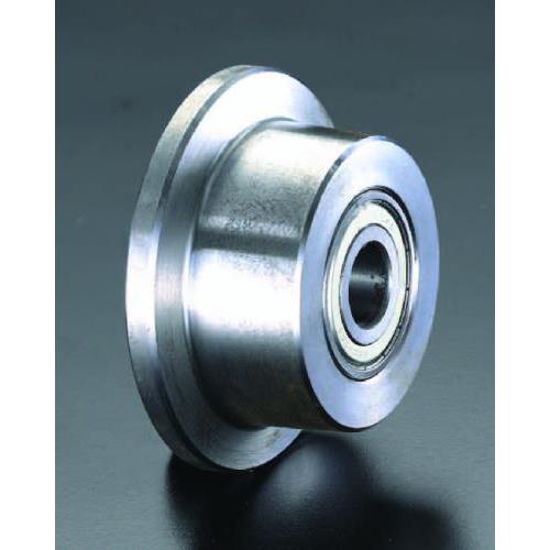 エスコ:車輪(Bベアリング・スティール製・レール用) 型式:EA986SF-150