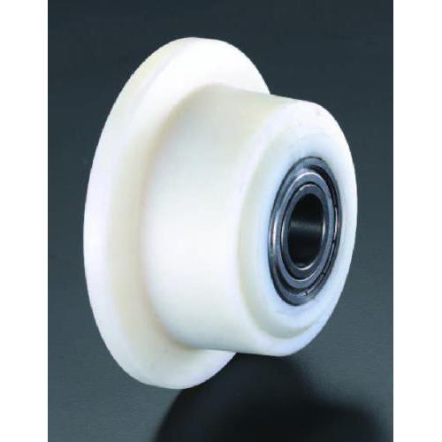 エスコ:車輪(Bベアリング・ポリアミド製・レール用) 型式:EA986SG-50