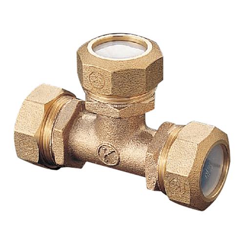 光明製作所:ポリエチレン管用 金属継手 (PPジョイント) チーズ 型式:KJP-903-50x20