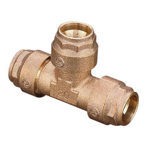 光明製作所:ポリエチレン管用 ワンタッチ継手 (ポリスピード) チーズ 型式:KJP1-903-50x20