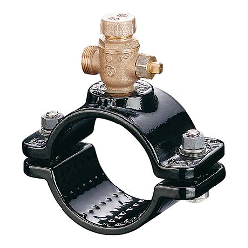 光明製作所:協会型 ボール式 サドル付分水栓 型式:SB-103-AS-75x40