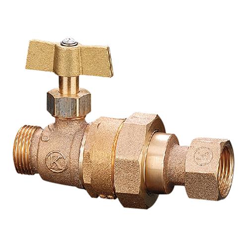 光明製作所:逆止弁付ボール式伸縮止水栓 型式:VSC-203-20x13