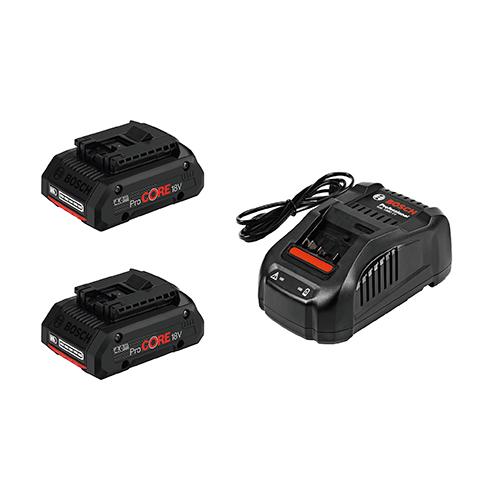 ボッシュ:次世代Li-ionバッテリー2個・充電器 型式:PROCORE18V4S2