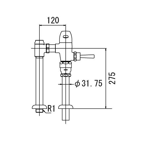 秀逸 水栓金具 補修部品 水栓補修パーツ フラッシュバルブ 日本正規代理店品 LIXIL :一般用フラッシュバルブ 節水形 型式:CF-510U INAX