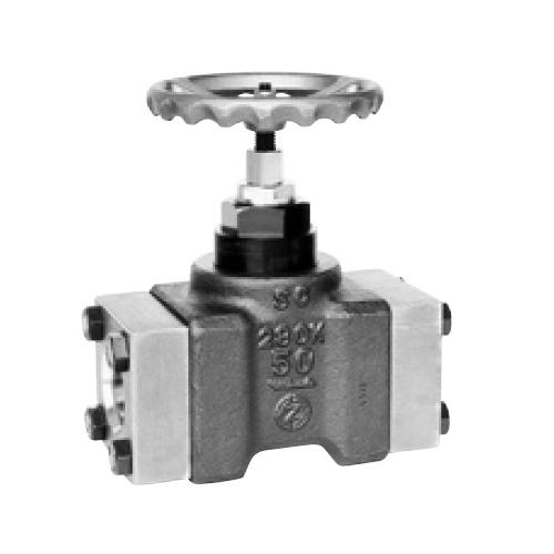 国内調達品:鋳鋼製フランジ形ストップバルブ 型式:HF-1280-80-11