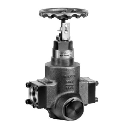 国内調達品:フランジ形片絞りストップバルブ 型式:HF-9210-40-23