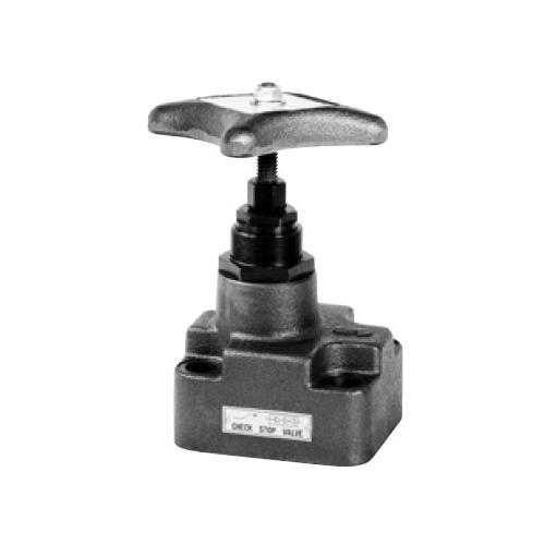 国内調達品:ガスケット形チェックストップバルブ 型式:HG-6211-50-24