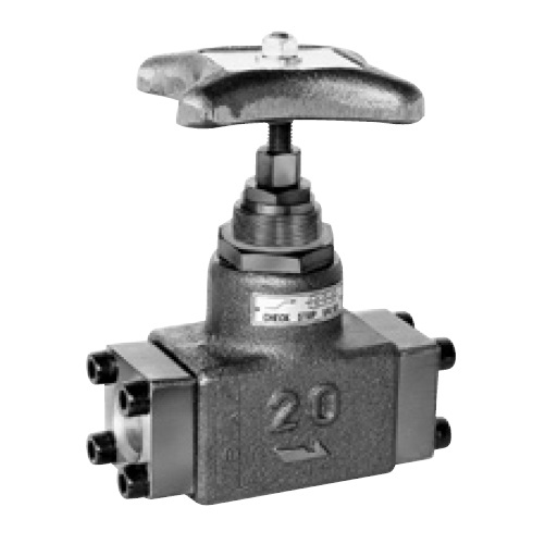 国内調達品:フランジ形チェックストップバルブ 型式:HF-6211-10-25