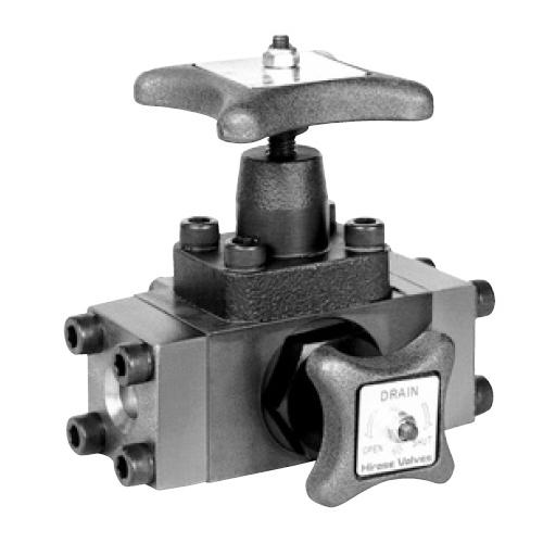国内調達品:フランジ形アキュムレータ元弁 型式:HF-ACC-10X10-23