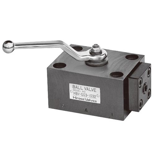 国内調達品:ガスケット形3ポート2位置ボールバルブ 型式:HBV-G03-1032