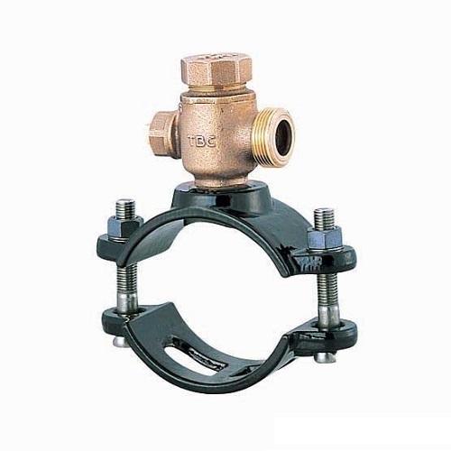 タブチ:TBCサドル分水栓鋳鉄管石綿管兼用 型式:100X50BX