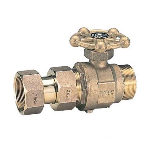 タブチ:ボール式メータ直結伸縮止水栓丸形鋳物ハンドル 型式:30BEM