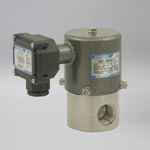 ケイヒン:SSPDシリーズ 油用 (超高圧電磁弁) 型式:SSPD-25AUKD-01 (AC200V)